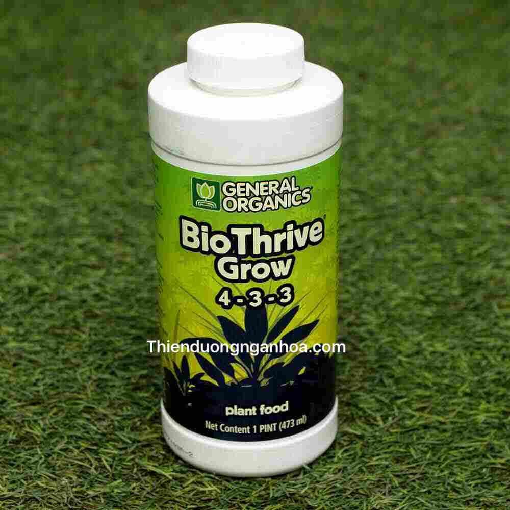 Bio Thrive Grow 4-3-3, Bán General Organics Bio Thrive Grow 4-3-3