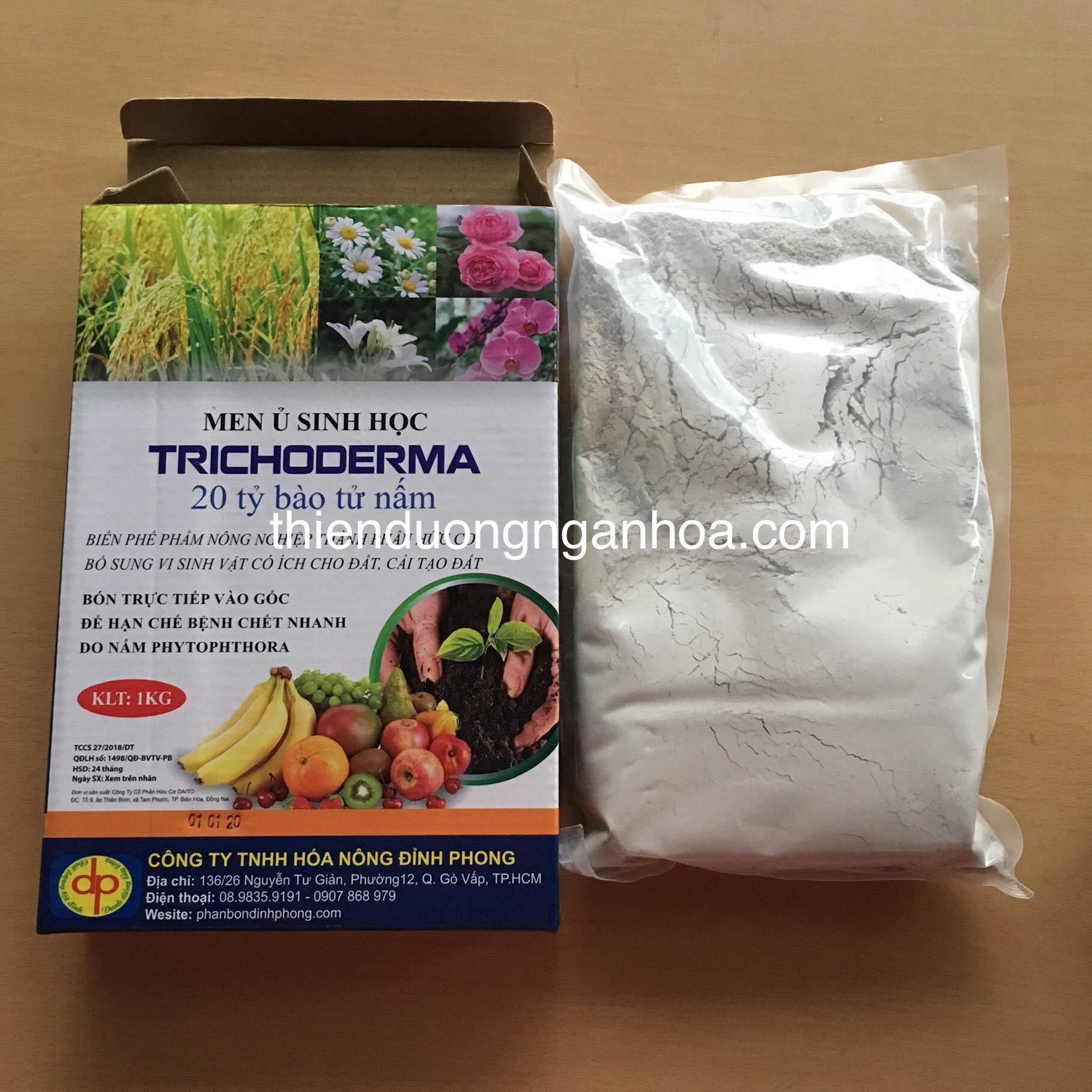 Bán men ủ trichoderma trị các loại nấm hại, ủ rác hữu cơ compost tại nhà, ủ mùn dừa...bón trực tiếp vào cây