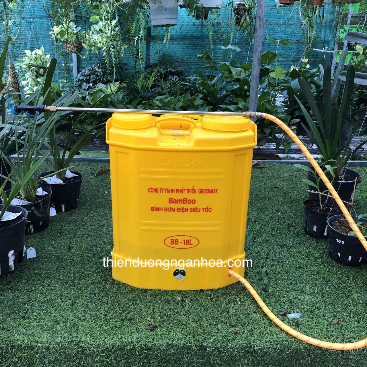 Bình điện phun phân bón 18l BaBoo sạc siêu nhanh lại tiết kiệm điện tại Hà Nội
