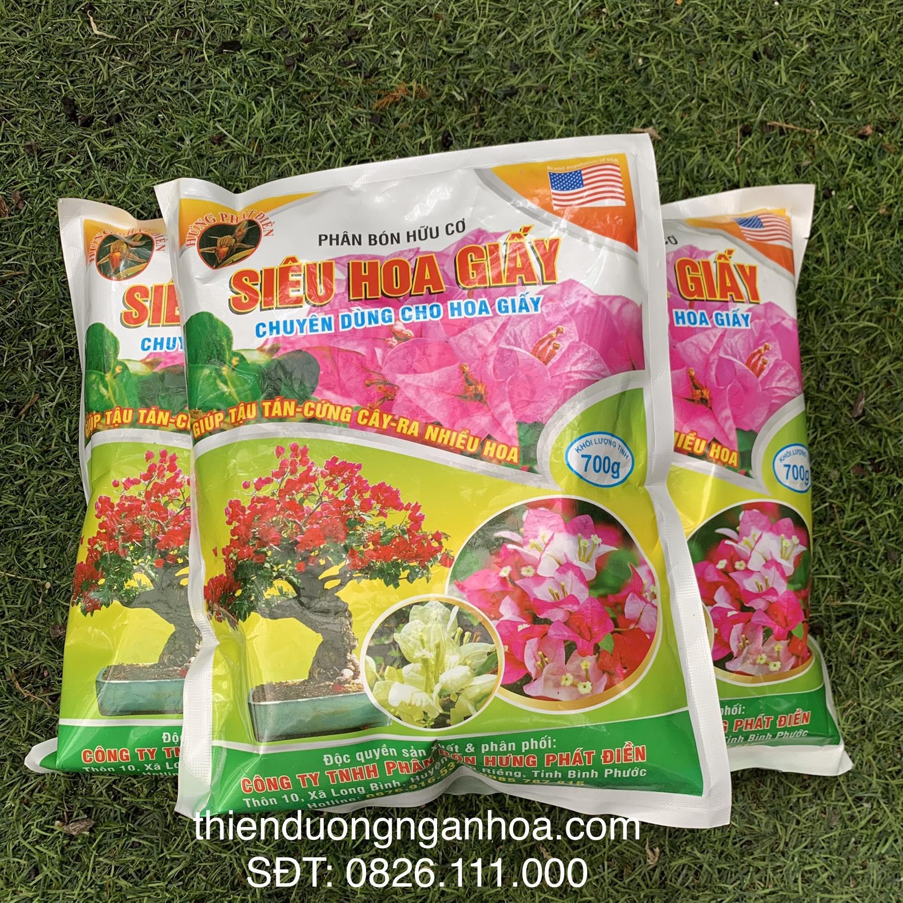 Bán phân bón kích hoa cho Hoa giấy phân bón hữu cơ siêu hoa giấy Hà Nội