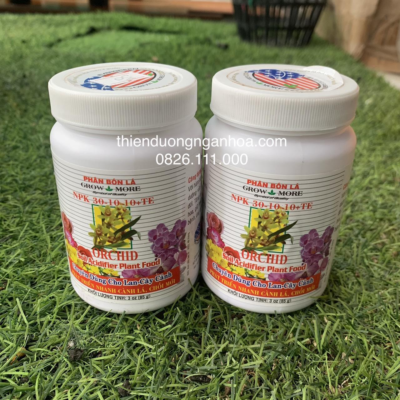 Bán phân bón NPK grow more 30-10-10 chuyên dành riêng cho hoa lan và cac loại cây cảnh